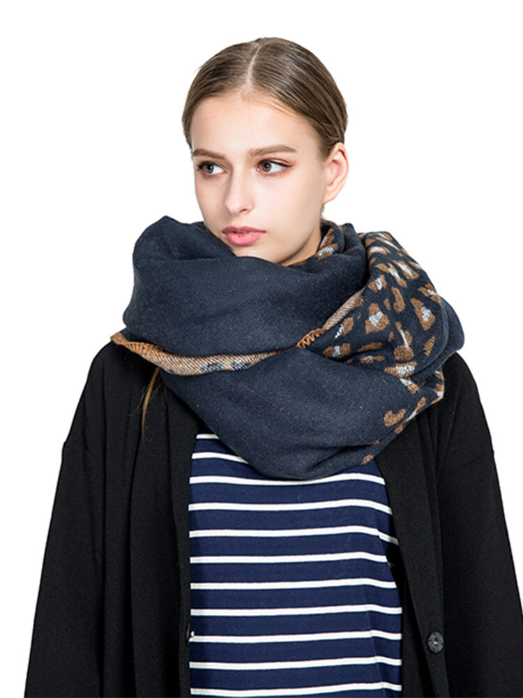 Women Print Shawl Long Winter Warm Scarf Leopard Pattern High Quality Blanket Scarf