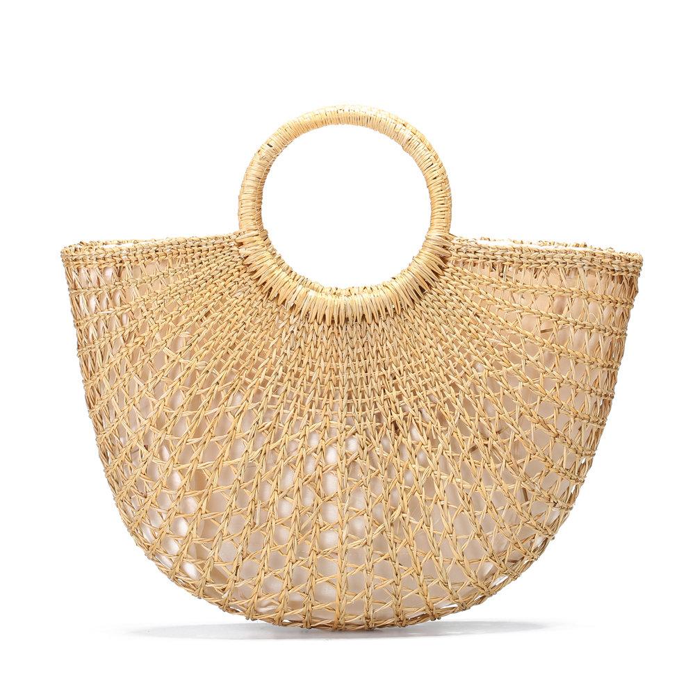 08b912bae7e8 Женщины выдолбленные желтые мешки Лук Досуг Соломенные сумки Трава Ручные  сумки пляжа - NewChic