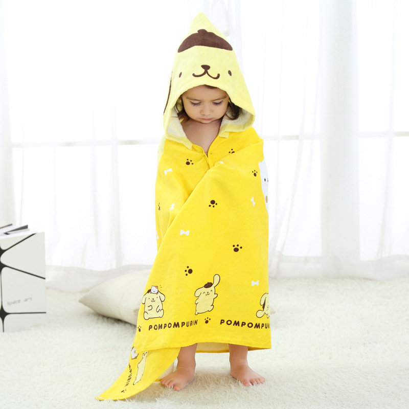 Cotton Comfy Kids Hooded Cloak Style Bath Robe For 0Y-6Y