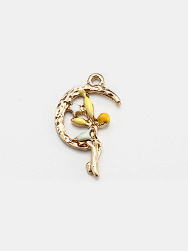 10pcs DIY Pendant Jewelry Alloy Moon Wizard Pendant
