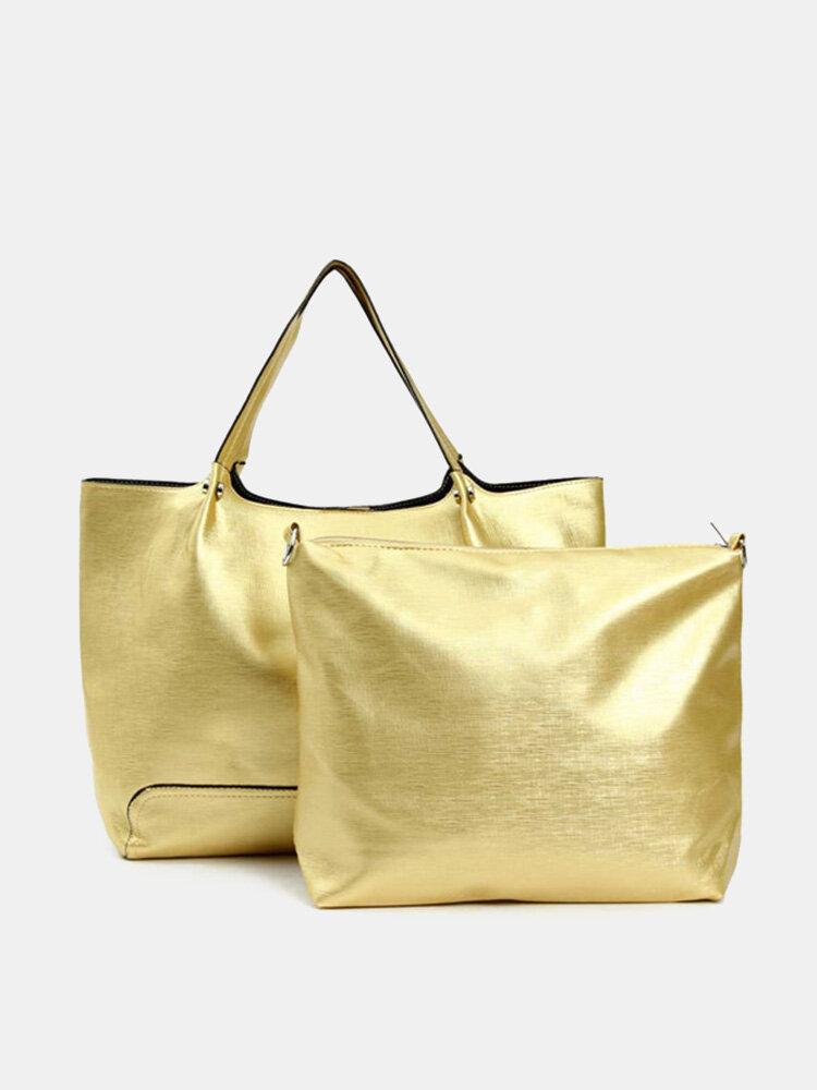 Vintage Cuir Taiga Large capacity Shoulder Bag