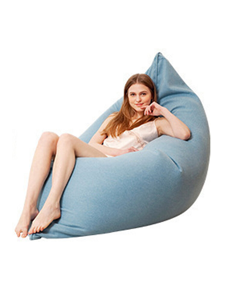 130x160cm Latest Solid Color Cotton Soft Bean Bags Sofa Lounger Cover Washable Without Filler