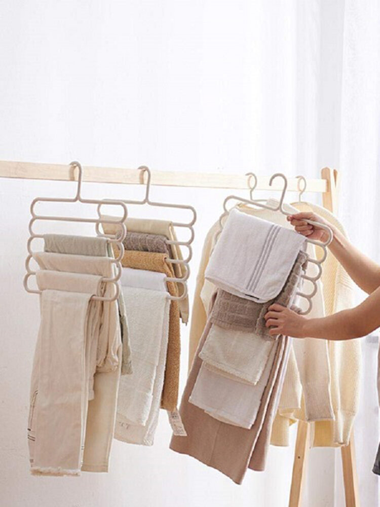 Home Multi-Layer Storage Multi-Function Hanger Five-Layer Hanging Towel Scarves Clothes Rack