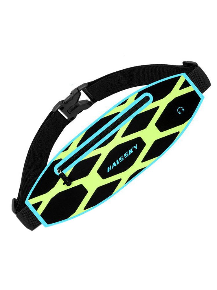 Outdoor Reflective Stripe Waist Bag Waterproof Sports Pockets