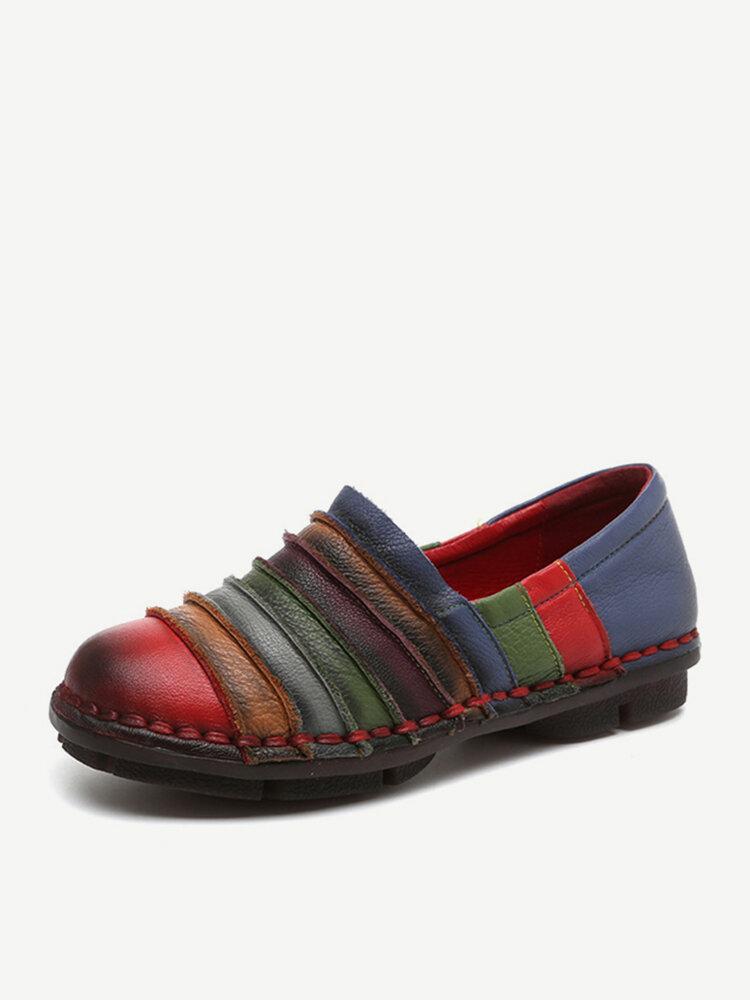 SOCOFY Slipper mit Regenbogenfarbe