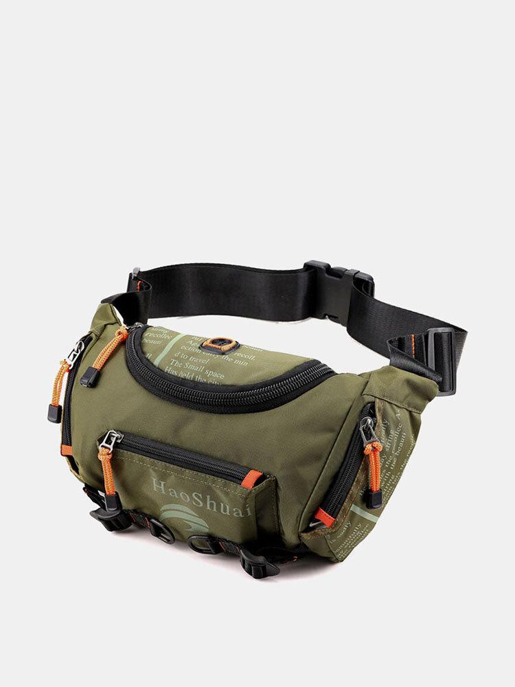 メンズ防水アウトドアヘッドフォンプラグクロスボディバッグチェストバッグスリングバッグ