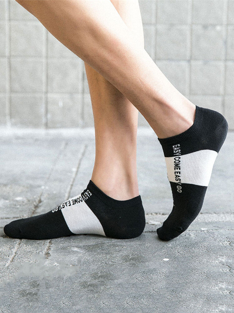 Men Breathable Cotton Socks Summer Invisible Boat Sock Stretchy Deep Mouth Ankle Socks