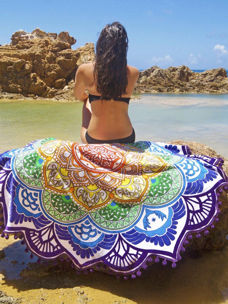 Bohemian Totem Beach Towels Yoga Mat Camping Mattress Bikini Cover Mandalas Tapestry