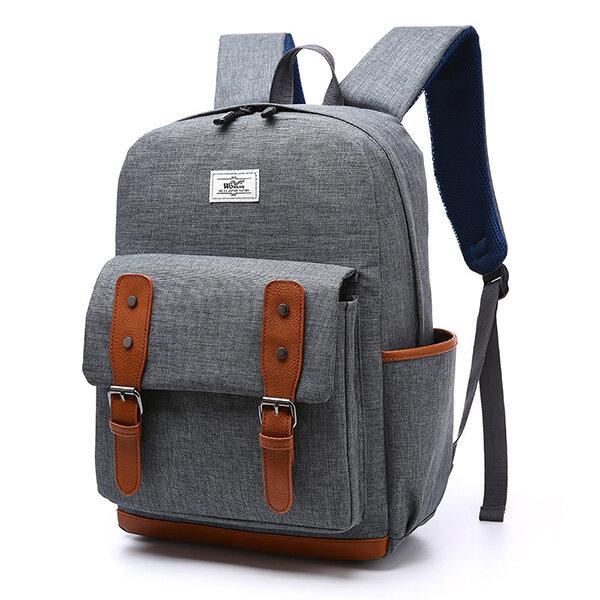 Vintage Casual Outdoor Travel 16 Inch Laptop Bag Backpack For Men Women