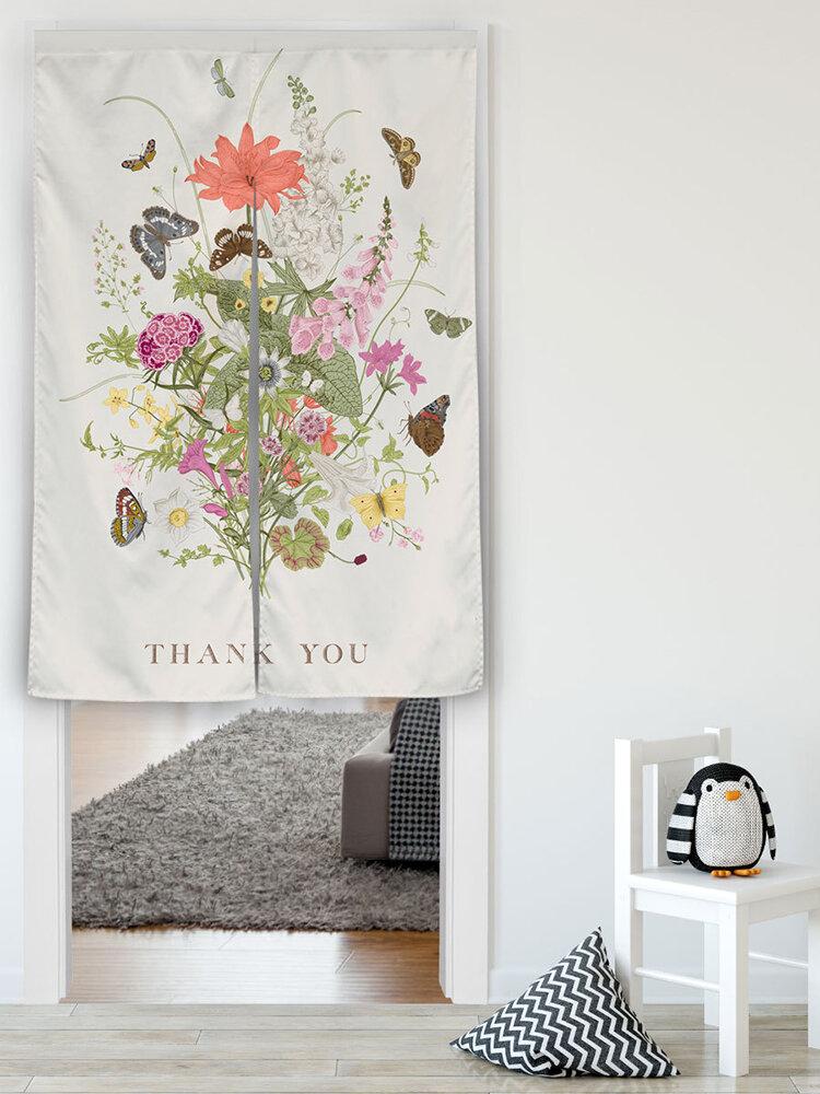 نسيج خلفية نباتية قماش ستارة غرفة قماش فن زخرفة قطعة مقسمة
