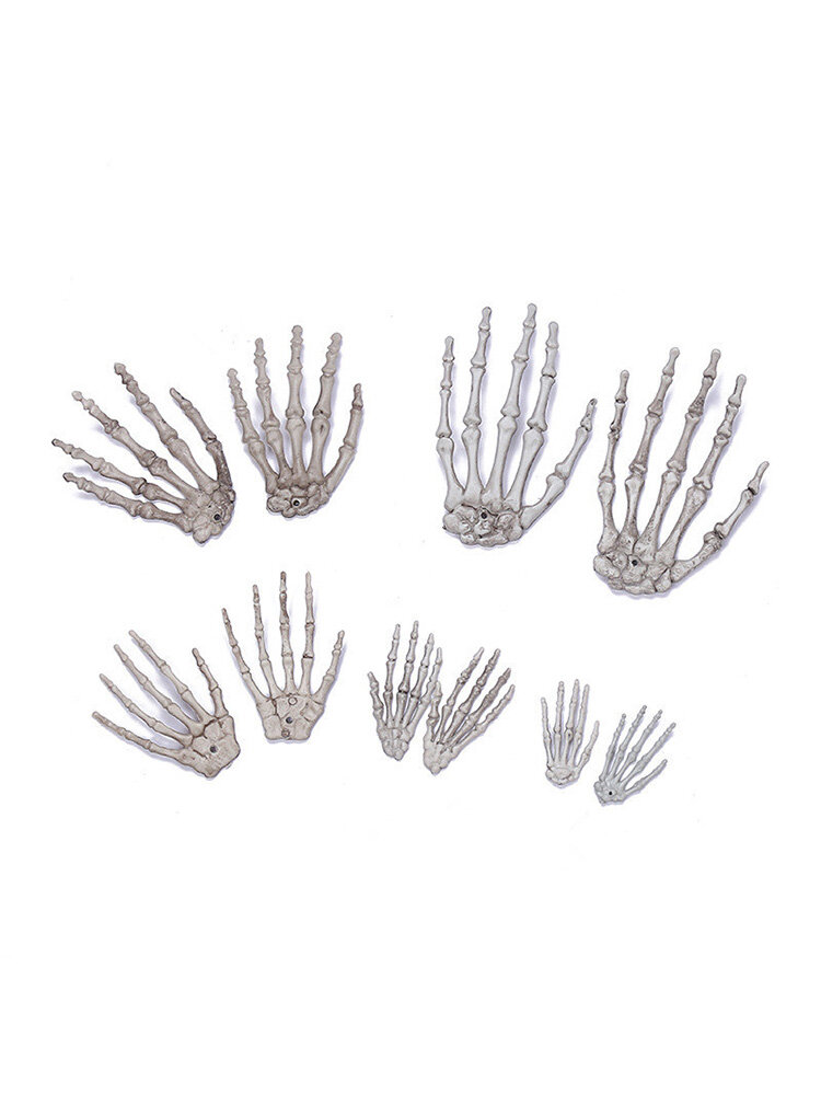 Handcuffs Skeleton Hand Horror Ornaments Party Decoration Haunted House Bar Scary Halloween Props