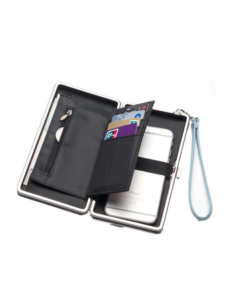 Sacs de rangement universels pour cartes de téléphone PU Long portefeuille sac à main pour Xiaomi Huawei Samsung iPhone 7
