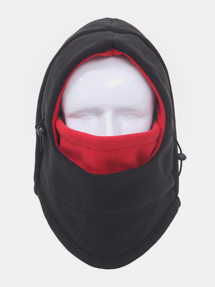 Men Women Thicker Fleece Warm Windproof Outdoor Sports Cap Hiking Ski Caps Full-protection Face Mask