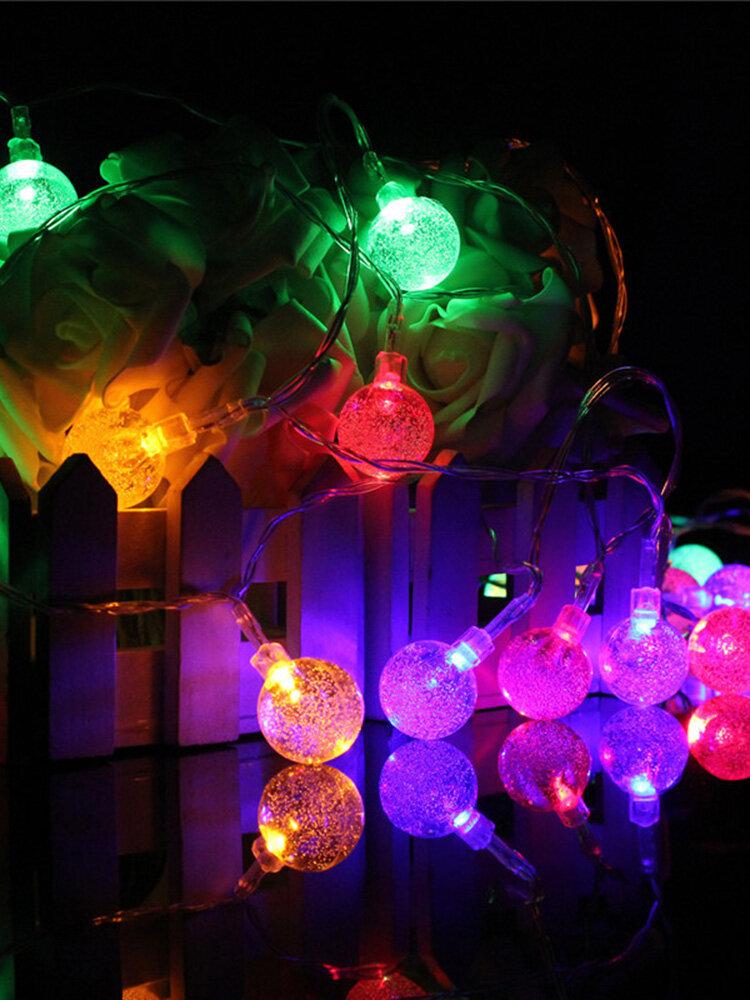 3 एम 20LED बैटरी बुलबुला बॉल परी स्ट्रिंग लाइट्स गार्डन पार्टी क्रिसमस वेडिंग होम सजावट
