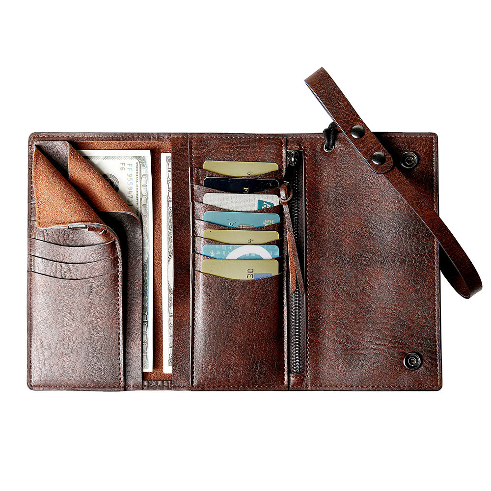 Men Trifold Long Wallet Card Holder Clutch Bag