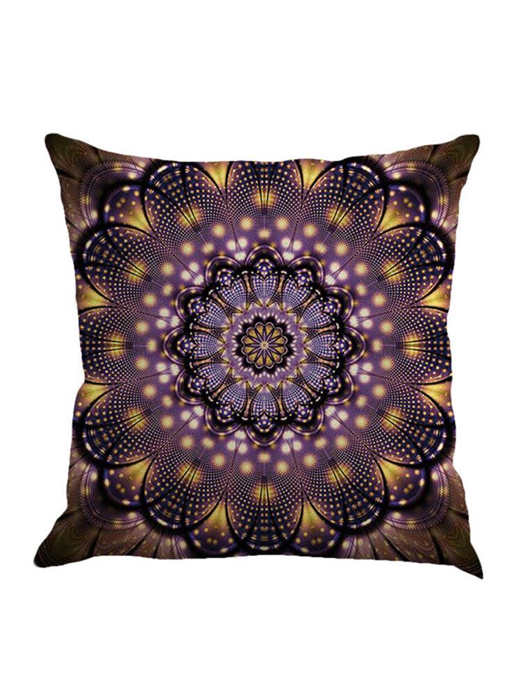 Bohemian Geometric Pattern Cotton Linen Pillowcase Square Decoration Cushion Cover