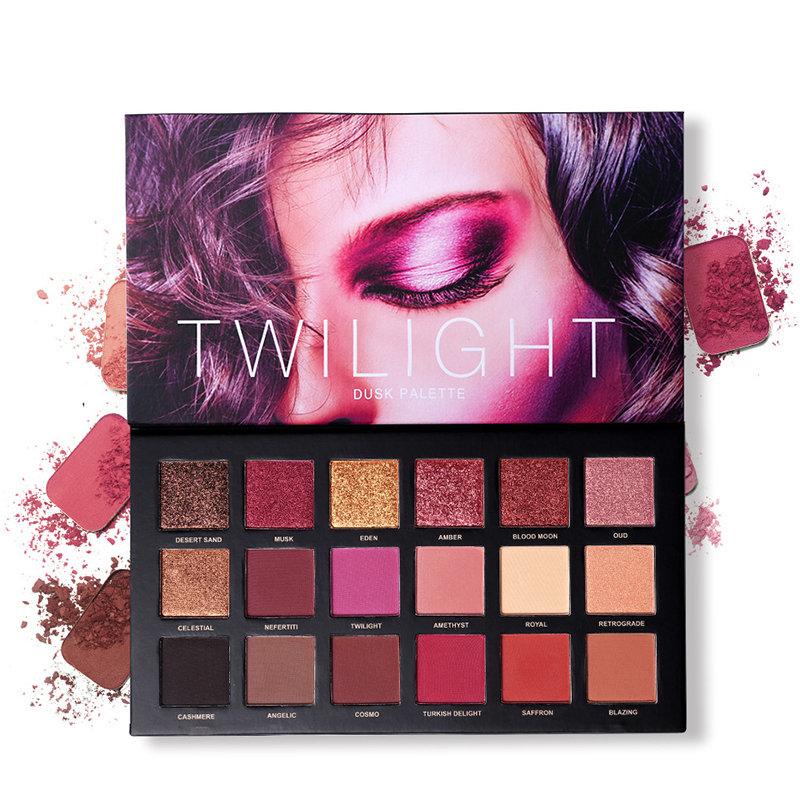 18 Colors Eyeshadow Makeup Palette Shimmer Matte Pigmented Pressed Eyes Shadow Natural