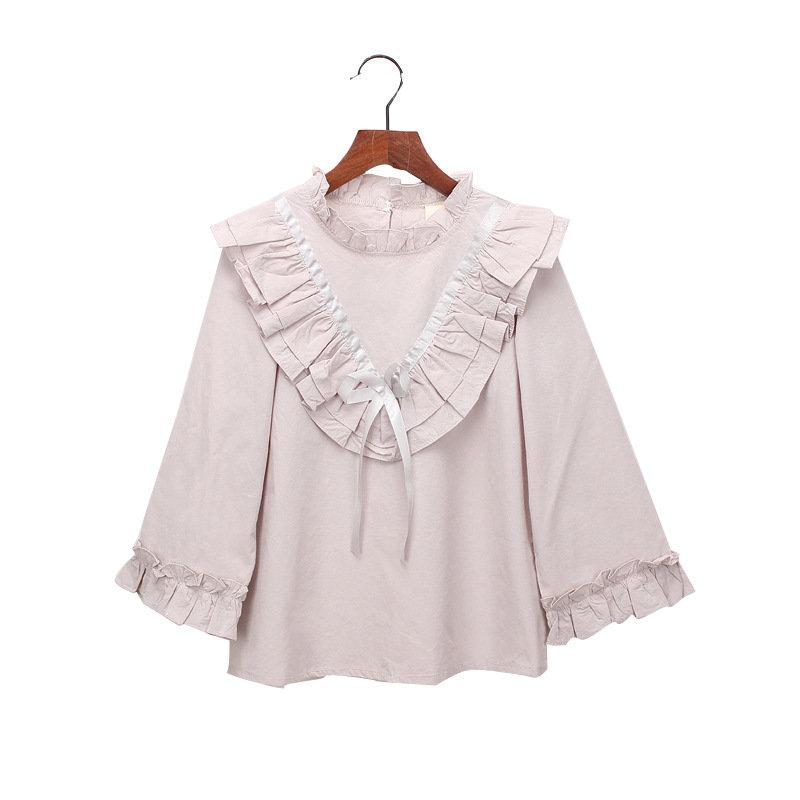 Girls Shirt Cute Ruffles Long Sleeve Stylish Tops For 2Y-9Y