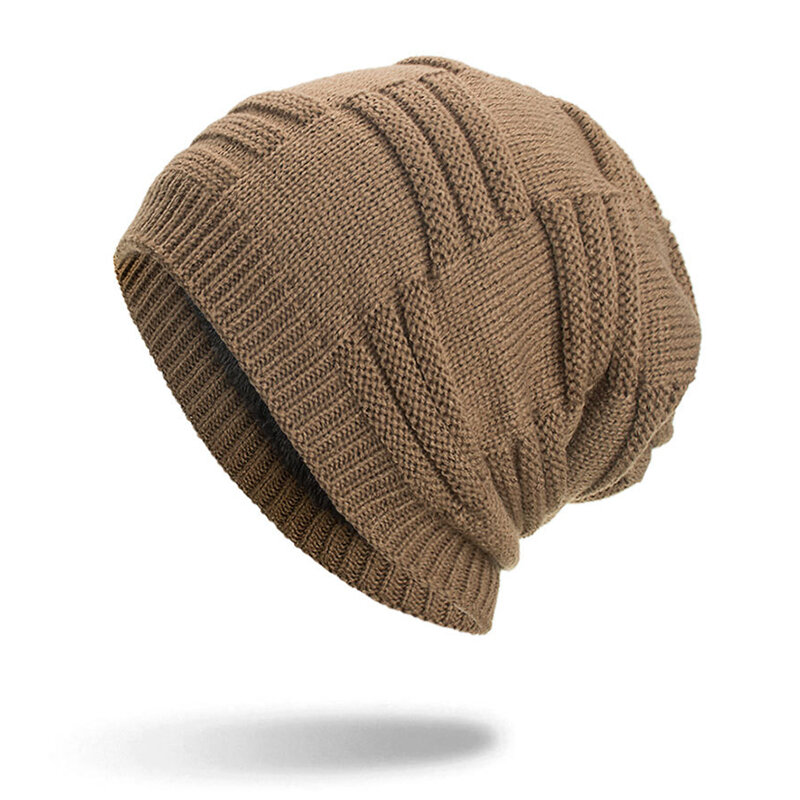 4020826aa Mens Wool Velvet Knit Hat Warm Vintage Vogue Winter Outdoor Casual Ski Home  Cycling Beanie