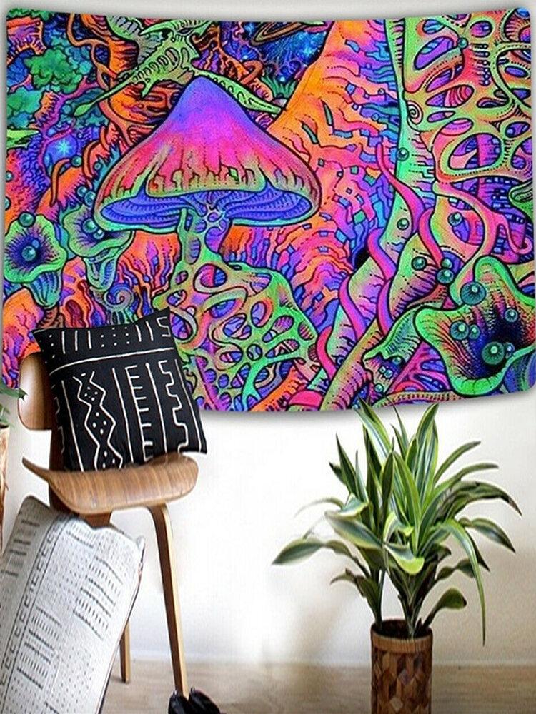 Абстрактный гриб психоделический фон ткань фон украшение стены тканевый гобелен украшение дома фреска гобелен
