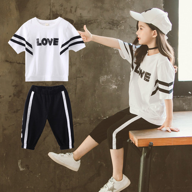 Children's Wear Girls' Suits New Tide Clothes Children's Girls Super-yang Network Red Stylish Two-piece