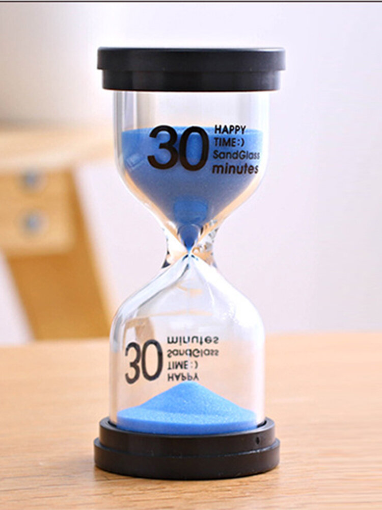 1/3/5/10/15/30 Minutes Sandglass Hourglass Kitchen Timer Clock Children Learning Timer Table Deco