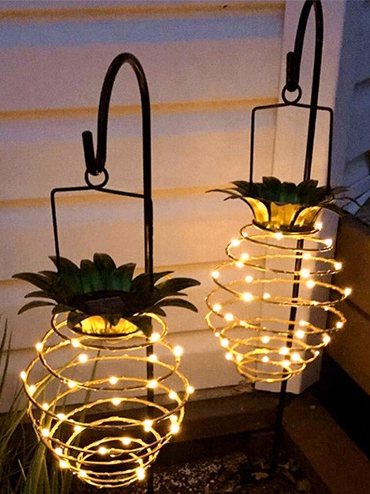 導かれた太陽パイナップルライト庭の装飾のランタンの屋外の防水太陽ライト