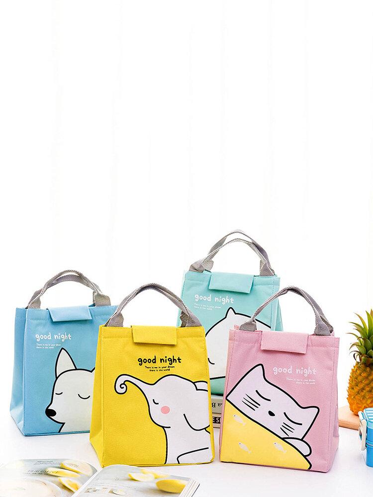 الكرتون الحيوان رسمت ضد للماء حقيبة الغداء رقائق الألومنيوم العزل رزمة نزهة الطازجة الاحتفاظ حقيبة