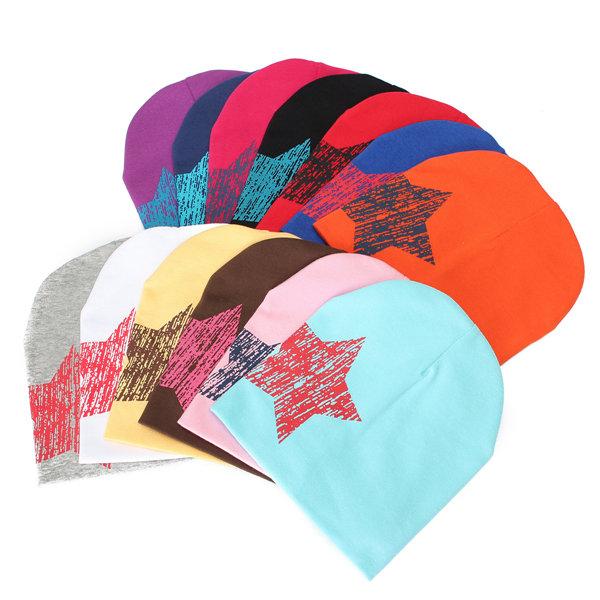 Cappello di beanie dei capretti delle ragazze del cappello di stampa della stella del capretto del neonato del bambino