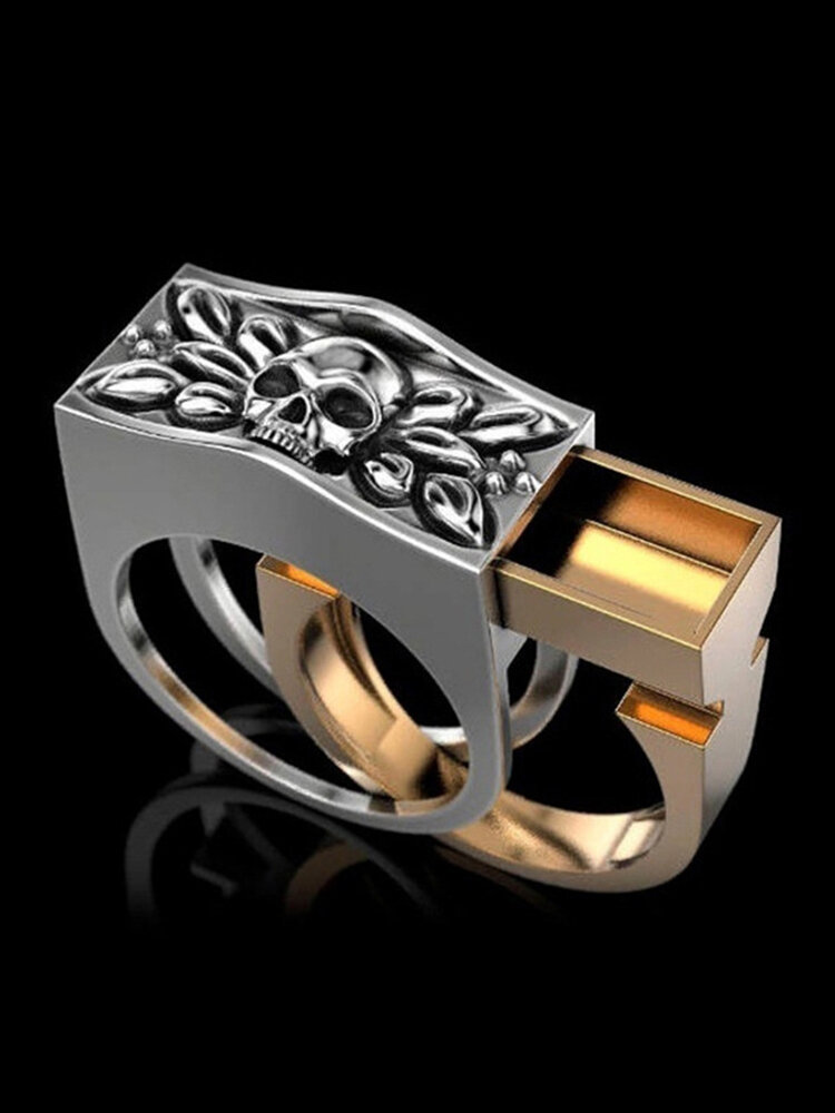 Vintage Combination Men Ring Punk Skull Ring Jewelry Gift