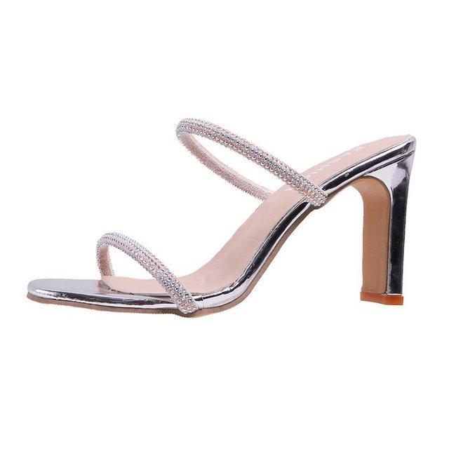 Women Opened Toe Roman High-heeled Slippers