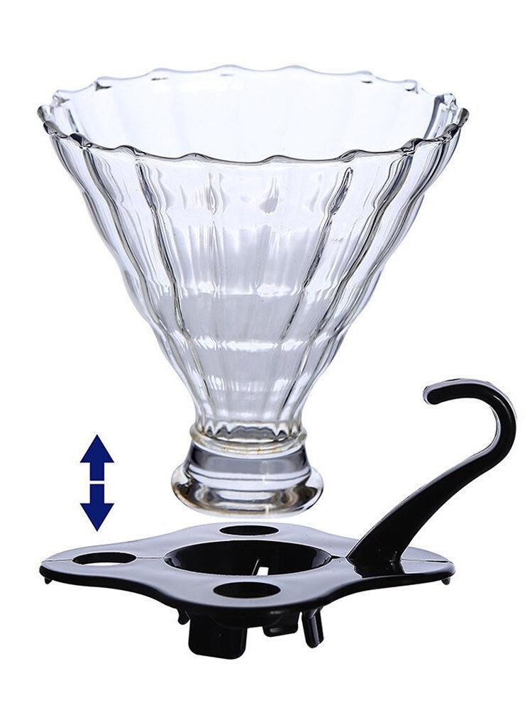 Стеклянная воронка с фильтром для кофеварки Капельница для кофе Многоразовое сито Чай Лист Фильтр для специй Чай Ситечко