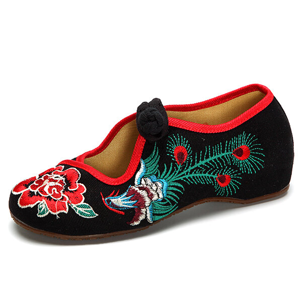 Phoenix Embroidered Hollow Out Casual Flat Vintage Loafers