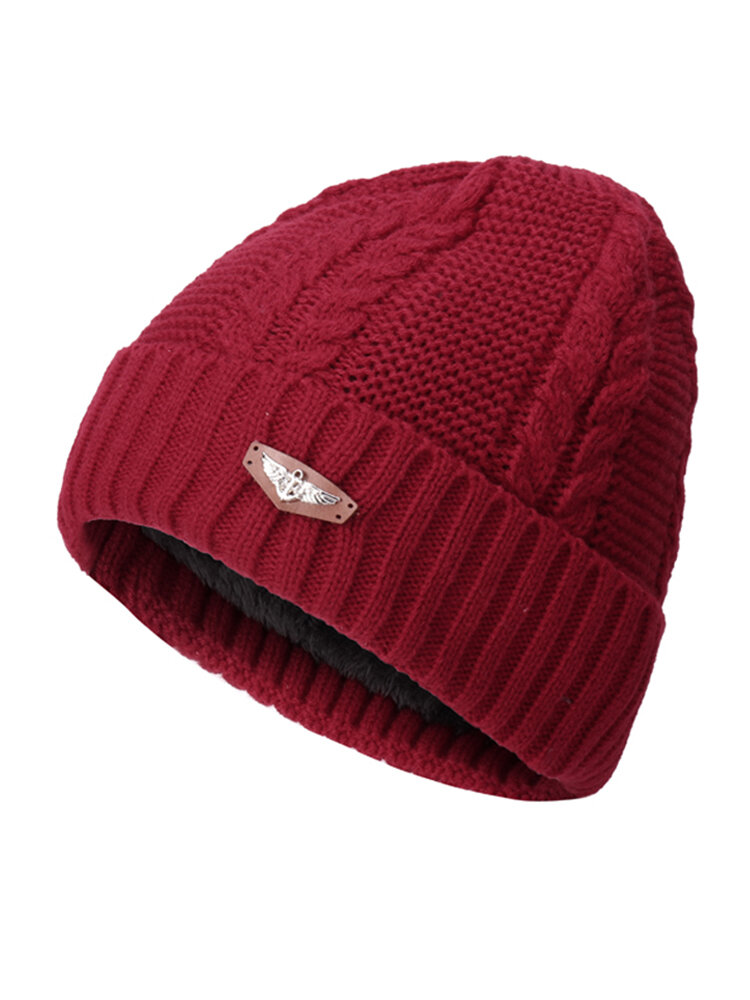 Men Women Knitted Solid Stripe Warm Fashion Beanie Cap With Earmuffs Hats Casual Outdoor Sport Cap