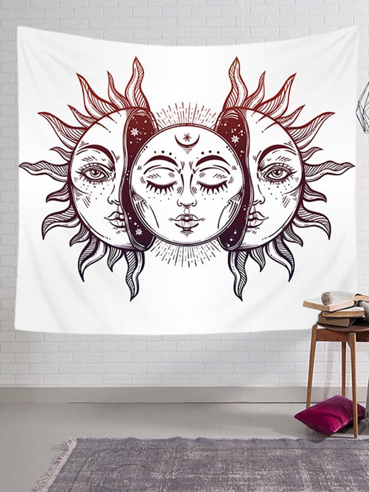 Vintage Bohemian Tarot Sun Pattern Tapestry Living Room Bedroom Wall Hanging Tapestry Art Decor