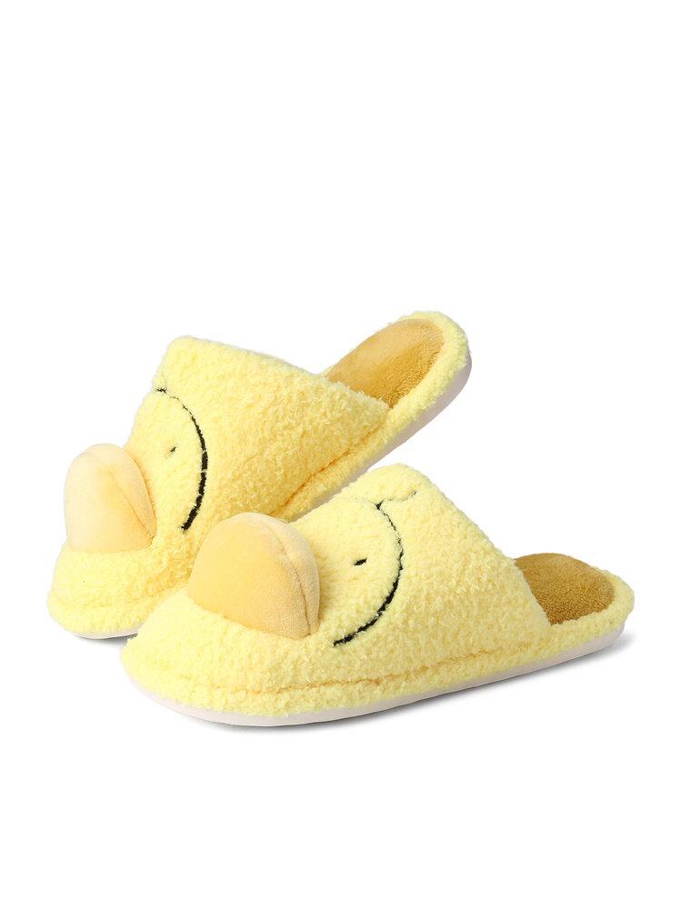 Mujeres Lovely Duck Warm Plush Cómodo hogar sin respaldo zapatillas