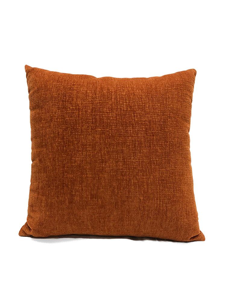 Couleur unie oreiller coussin salon canapé coussin plaine moderne minimaliste chevet taille taie d'oreiller