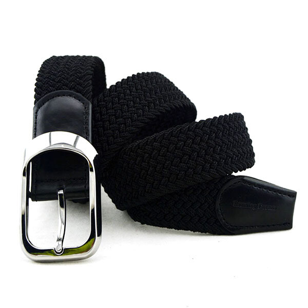 Mens Women Breathable Elastic Canvas Belt Casual All-match Pin Buckle Jeans Pants Waistband