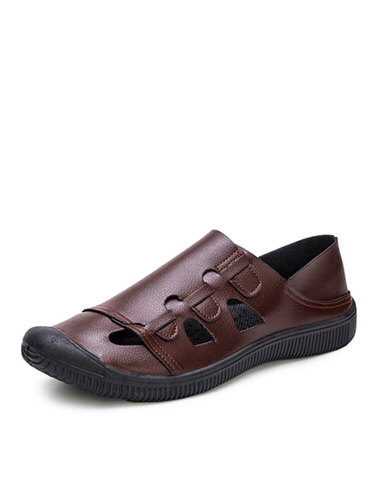 Men Closed Toe Outdoor Comfy Hard Wearing Slip-on Casual Sandals