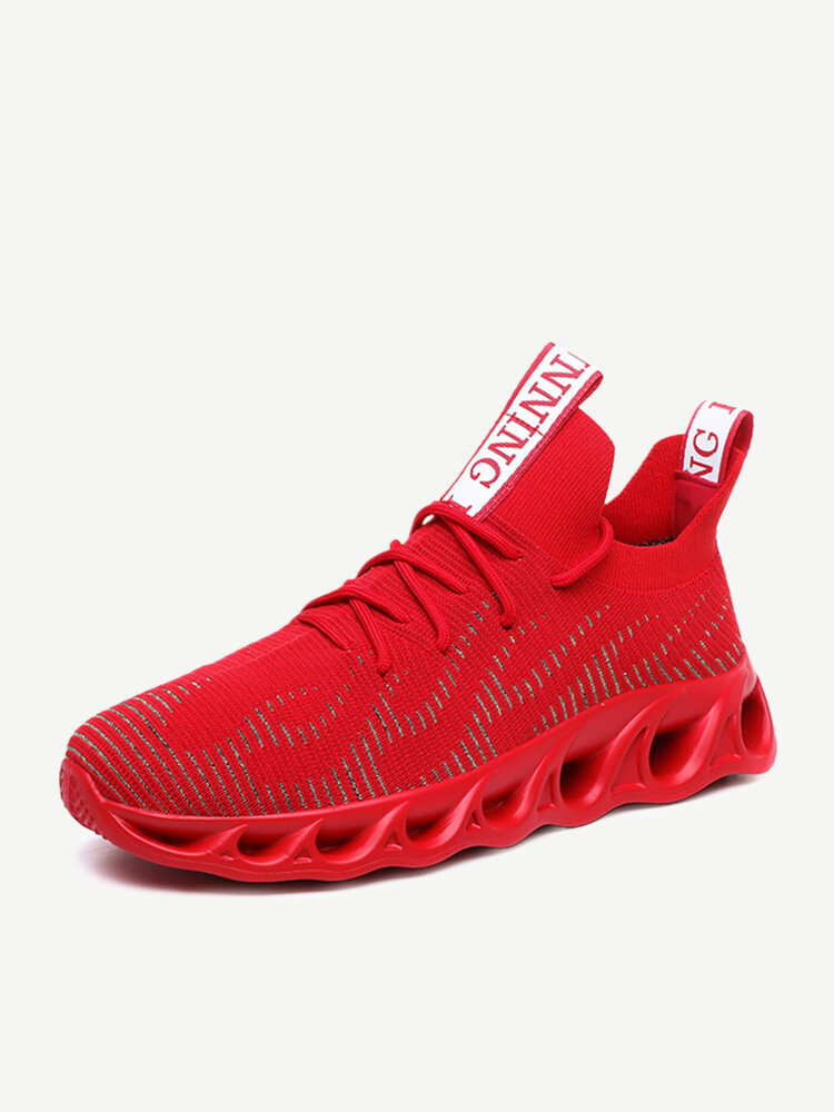 Green Trend New Shoes Men's Season Red Elastic Running Shoes Large Size 46 Front Tide Shoes Men