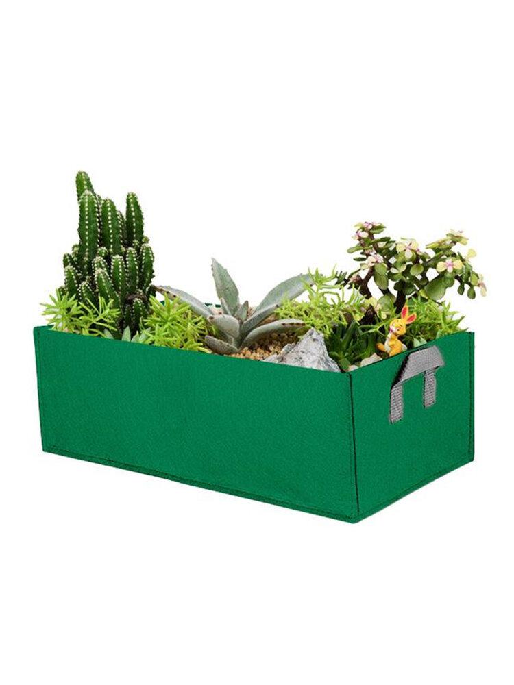 Jardim crescer sacos de erva flor plantadores de vegetais retângulo não tecido coco turfa crescer sacos jardim de casa