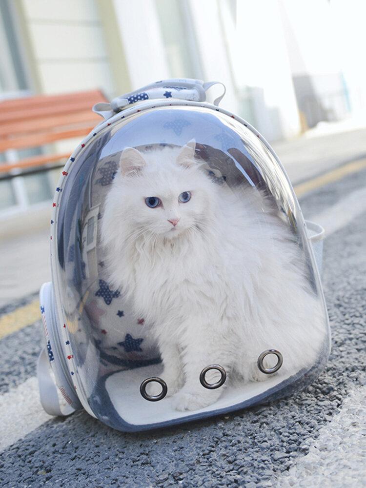 3色通気性透明ペット旅行バックパック犬猫屋外キャリアバッグ