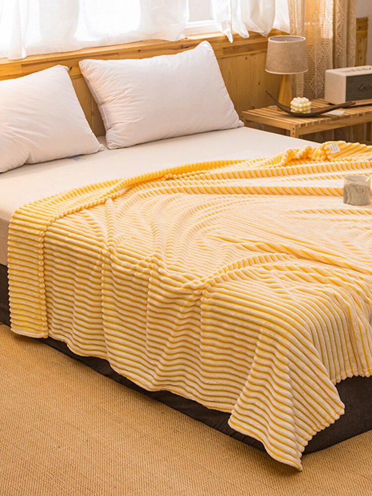 Newchic coupon: 1 Pc Double Thick Warmth Coral Fleece Blanket Comfy Bedding Office Nap Magic Fleece Blanket