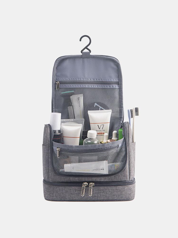 多機能大容量ドライ&ウェットセパレーションアウトドアトラベルウォッシュバッグダブル防水ハンギングコスメティックバッグ