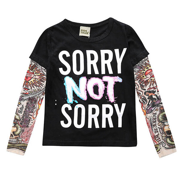 Cool Printed Boys Long Sleeve Tops Spring Autumn T shirts For 1Y-9Y