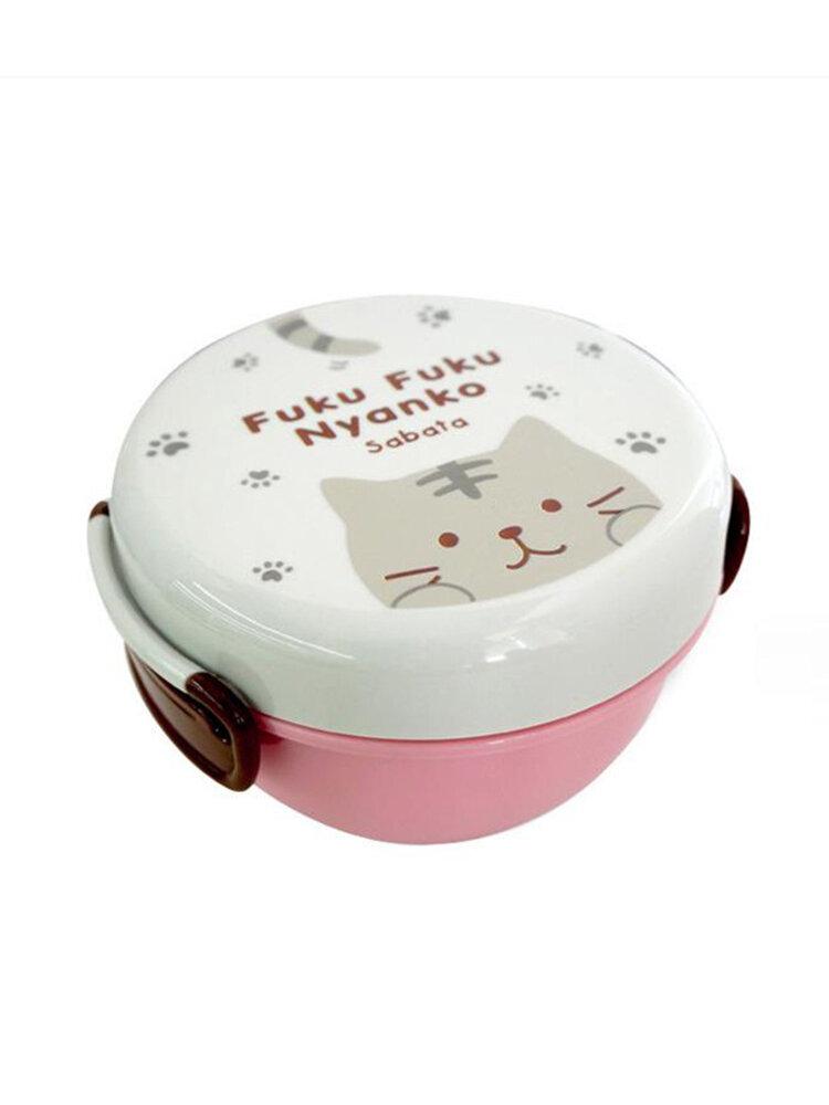 مربع الغداء Microwavable مزدوجة طبقة عاء المعكرونة الفورية البلاستيك تخزين الأطباق المحمولة في الهواء الطلق