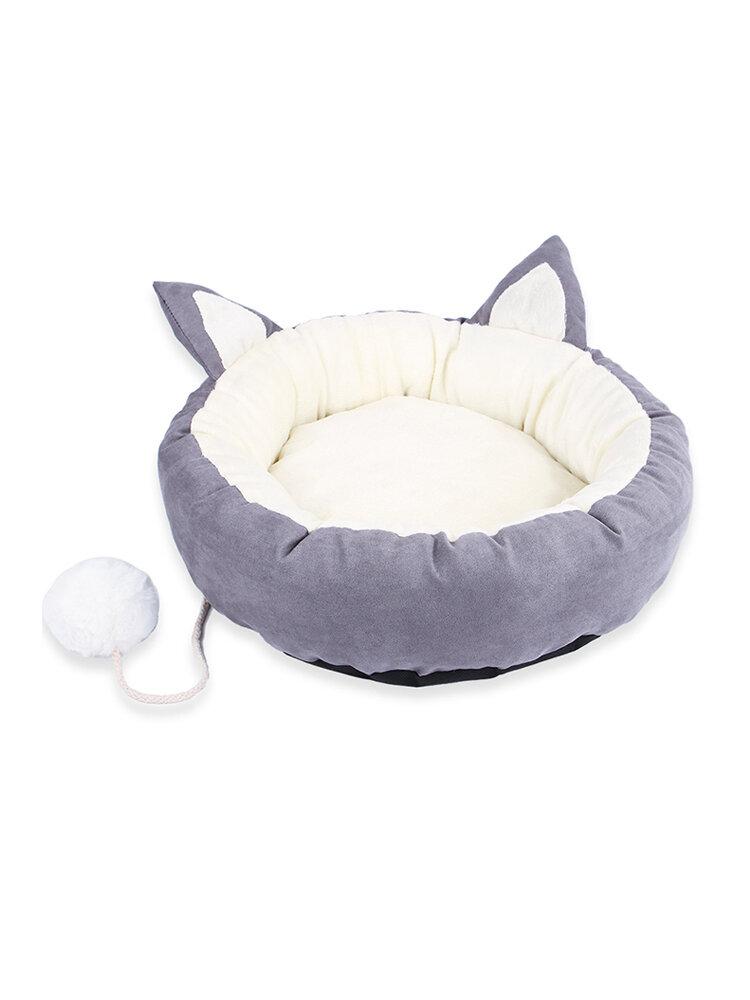 かわいい子犬睡眠パッドマット取り外し可能な洗えるペット犬猫すべての季節の柔らかい丸いベッド