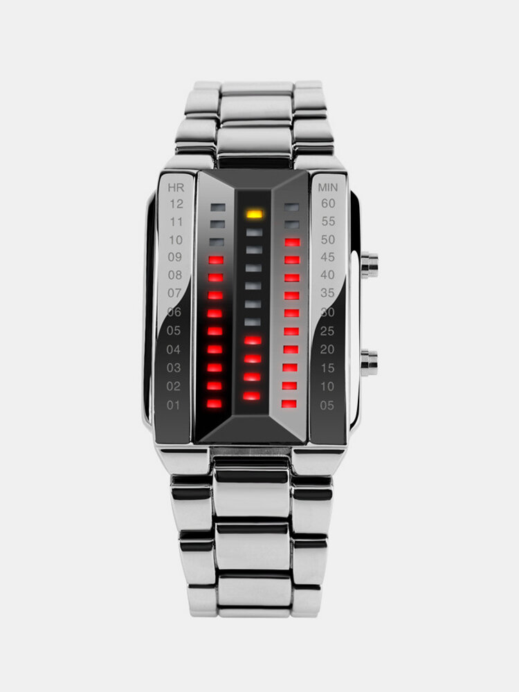 Fashion Men Watch Date Luminous Waterproof LED Stainless Steel Women Digital Watch