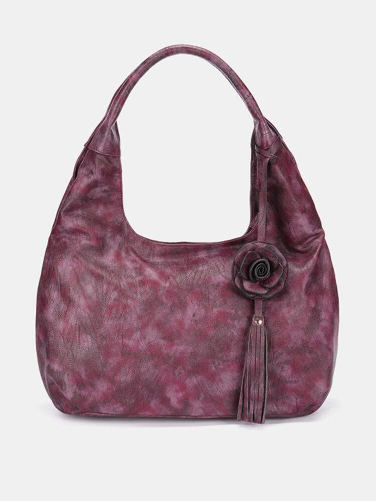 Brenice National Style Vintage Floral Crossbody Bag Handbag For Women