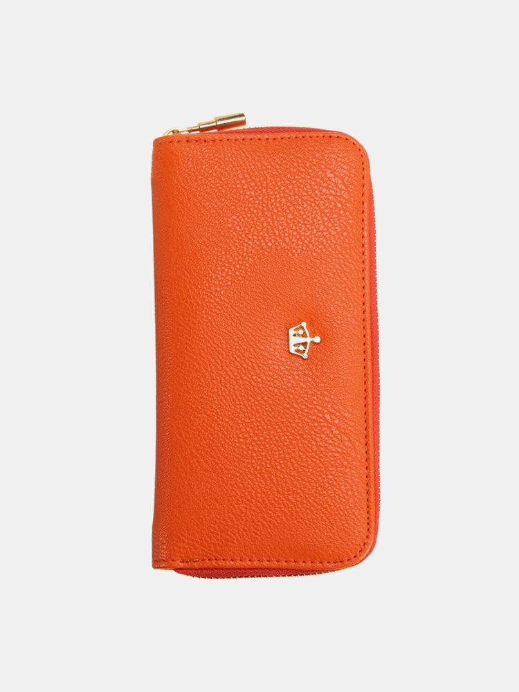 Women Crown Pattern Zipper Long Wallet